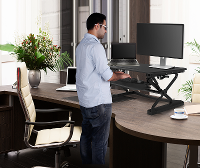 SIT STAND ADJUSTABLE DESK & RISERS