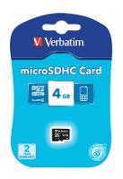 VERBATIM MICRO SDHC MEMORY CARD 4GB CLASS 4