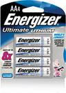 ENERGIZER LITHIUM AA BATTERY PACK 4
