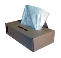 FELLOWES SHREDDER BAGS CLEAR C120,C120C,C220,C220C, PKT50