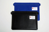 CONVENTION CASE SATCHEL WALLET PVC ZIP CASE BLUE 450X305 - 10 IN STOCK