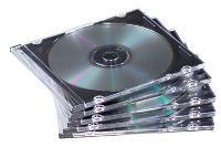 FELLOWES CD SLIM JEWEL CASE PKT25 CLEAR/ BLACK 519950