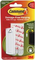 3M COMMAND ADHESIVE SAWTOOTH PICTURE HANGER 17040