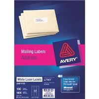 AVERY L7161 QUICK PEEL 63.5x46.6mm LABELS 18/S BX100 524457