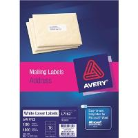 AVERY L7162 QUICK PEEL 99.1x34.0mm LABELS 16/S BX100 524456
