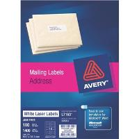AVERY L7163 99.1x38.1mm LABELS 14/S BX100  524454
