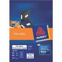 AVERY L7170-25 FILE SPINE LABEL  24/S 524491
