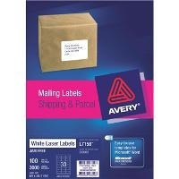 AVERY L7158 64x26.7mm LABELS 30/S BX100 524460