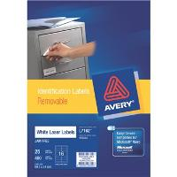 AVERY L7162REV-25 REMOVABLE LABELS 16/S