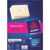 AVERY J8164-50 INKJET LABELS  63x72mm  12S