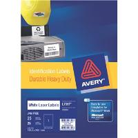 AVERY LABELS L7067-25 HEAVY DUTY 1 PER PAGE 199.6 X 289 524474