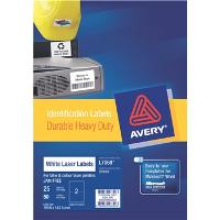 AVERY LABELS L7068-25 HEAVY DUTY 2 PER PAGE 199.6 X 143.5mm  524475