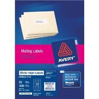 AVERY J8157-50 INKJET LABELS 64X24.3MM  33/S
