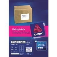 AVERY J8166-50 INKJET LABELS 99x93mm    6/S