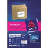 AVERY J8168-50 INKJET LABELS 199x143mm  2/S