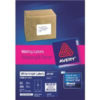 AVERY J8169-50 INKJET LABELS 99.1x139mm 4/S