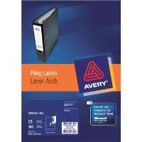 AVERY J8171-25 INKJET LEVER ARCH LABELS  4/S