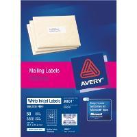 AVERY J8651-50 INKJET LABELS 38.1X21.2MM  65/S