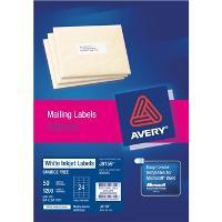 AVERY J8159-50 INKJET LABELS 64X34MM  24/S