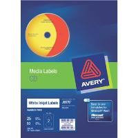 AVERY J8676-25 CD/DVD INKJET LABELS  2/S