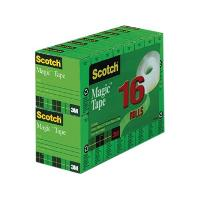 SCOTCH 3M 810 19mmx25m MAGIC TAPE BOXED REFILL PKT4