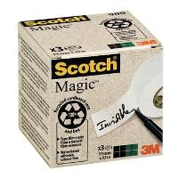 SCOTCH 3M TAPE MAGIC 900 19MM X 33M BOX 3