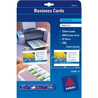 AVERY C32016 COLOUR LASER BUSINESS CARDS 10/S SATIN FINISH