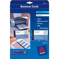 AVERY C32015 CLEAN EDGE INKJET BUSINESS CARDS 8UP