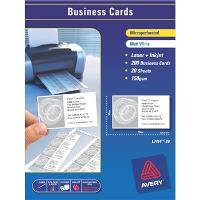 AVERY BUSINESS CARDS LASER/INKJET L7414-20 150gsm 10UP 520736