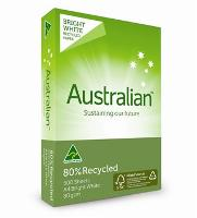 AUSTRALIAN A4 COPY 80GSM 80% RECYCLED WHITE PAPER - DISCONTINUED