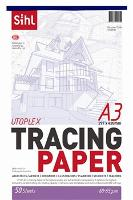 SIHL TRACING PAPER A3 62GSM  TRANSPARENT PAD 50
