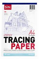 SIHL TRACING PAPER A4 92GSM TRANSPARENT PKT100