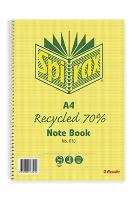 SPIRAX RECYCLED 810 A4 NOTEBOOKS 120 PAGE SIDE OPEN