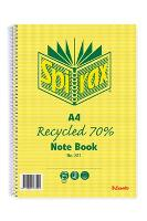 SPIRAX RECYCLED 811 A4 NOTEBOOKS 240 PAGE SIDE OPEN