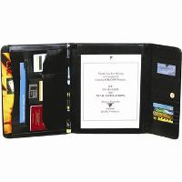 FALCON FOLDER TRI-FOLD A4 MAGNETIC FASTENER BLACK