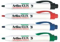 ARTLINE CLIX 573 RETRACTABLE WHITEBOARD MARKERS BLACK BULLET POINT