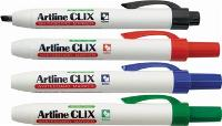 ARTLINE CLIX 593 RETRACTABLE WHITEBOARD MARKERS CHISEL TIP BLUE