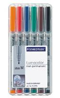 STAEDTLER OHP PENS 315WP6 NON PERMANENT MEDIUM  WALLET6 LUMOCOLOR