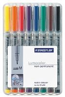 STAEDTLER OHP PENS 315WP8 NON PERMANENT MEDIUM  WALLET8 LUMOCOLOR