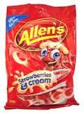 ALLENS STRAWBERRY CREAMS  1.3kg 526217