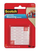 SCOTCH 3M MOUNTING SQUARES 108SML REMOVABLE 12.7 X 12.7MM PKT64
