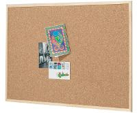 CORK NOTICE BOARD ECONOMY 450 X 600mm WOOD FRAME