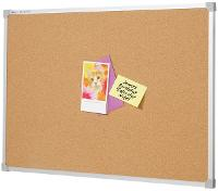 PENRITE CORK NOTICE BOARD 900 X 900mm ALUMINIUM FRAME
