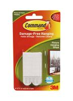 3M COMMAND ADHESIVE 17201 PICTURE HANGING STRIPS MED PK4 525106