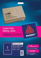 AVERY L7567-25 CLEAR LABELS 210X297mm  1/S 524509