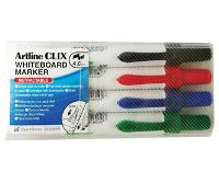 ARTLINE CLIX 593 RETRACTABLE CHISEL WHITEBOARD MARKERS WALLET 4