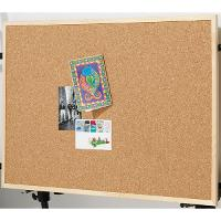 CORK NOTICE BOARD ECONOMY 900 X 600mm WOODEN FRAME