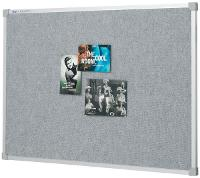 PENRITE PINBOARD FABRIC ALLOY FRAME 1200 X 900mm SILVER GREY