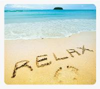 FELLOWES MOUSE PAD RECYCLED RELAX BEACH