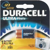 DURACELL ULTRA CR123 CAMERA BATTERY
